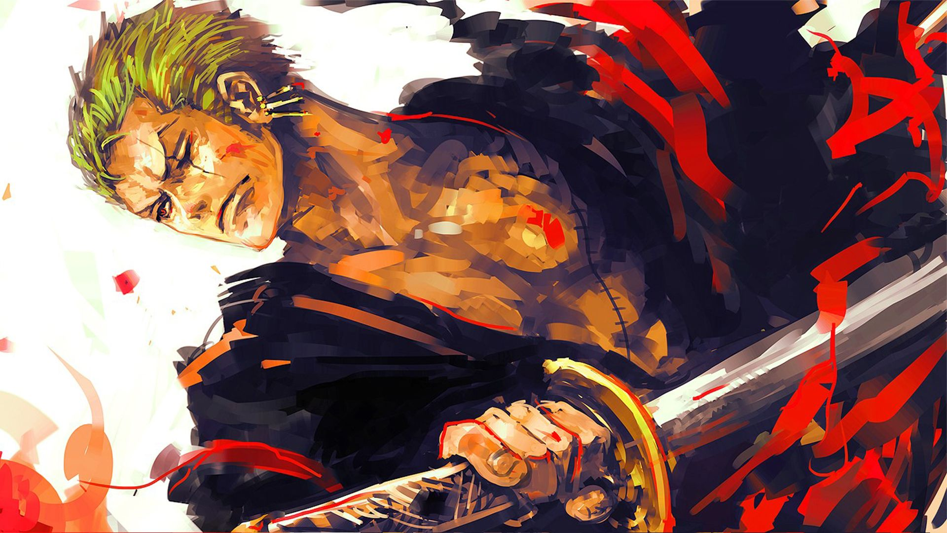 Roronoa Zoro Holdin Katana Anime One Piece Wallpaper Hd