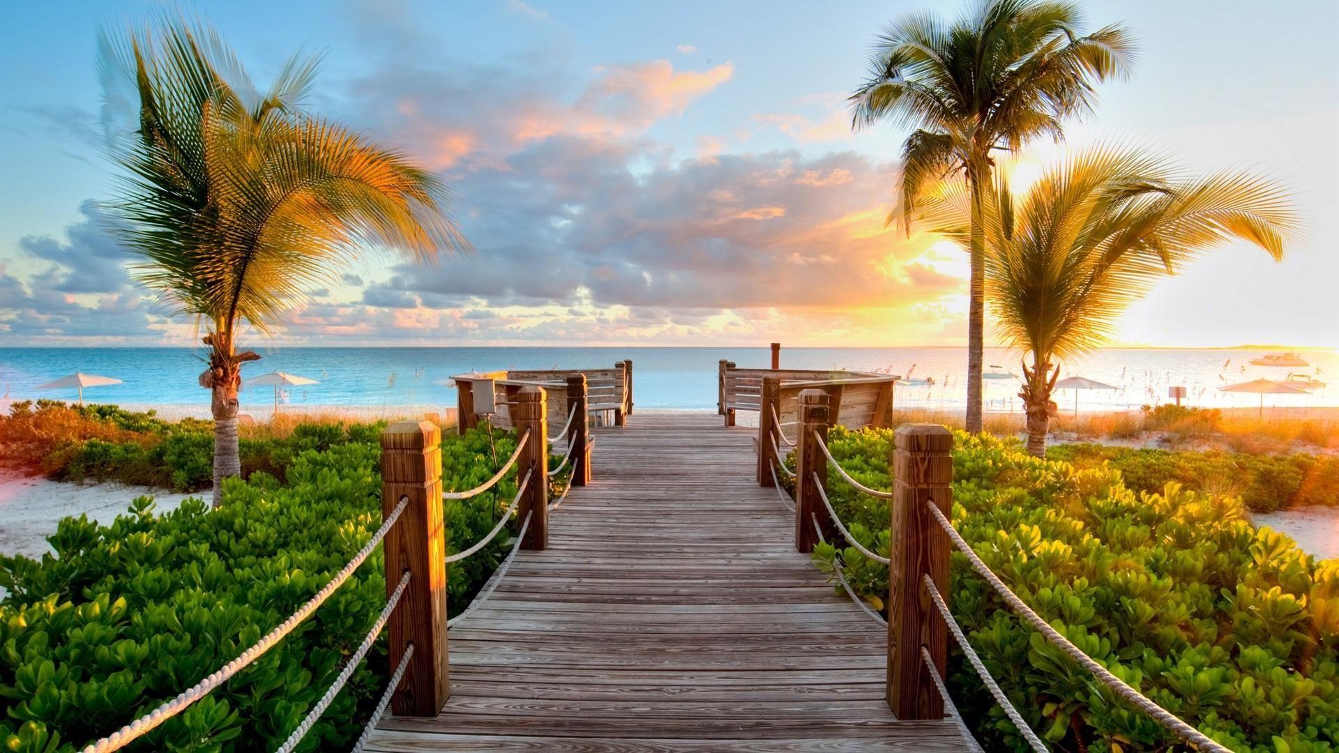 Tropical Beach Hd Wallpaper 1920x1080 Id 43948 Beach
