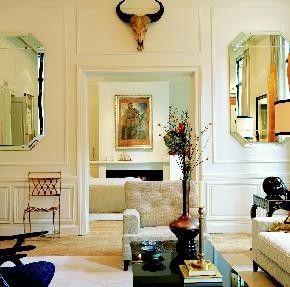 80u0027s Style Octagonal Mirrors, Georgia Ou0027Keefe Skull, Understated 80u0027s Style