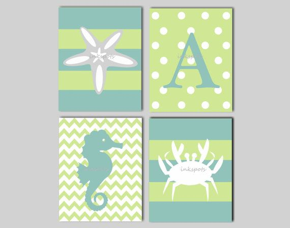 Nautical Nursery Wall Art  Kids Nautical Wall by inkspotsgallery, $45.00 - more for a baby girl