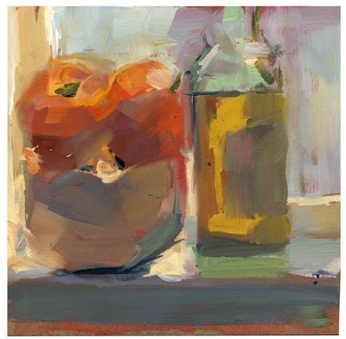 """#767 Olive Oil"" - Original Fine Art for Sale - ©Lisa Daria"