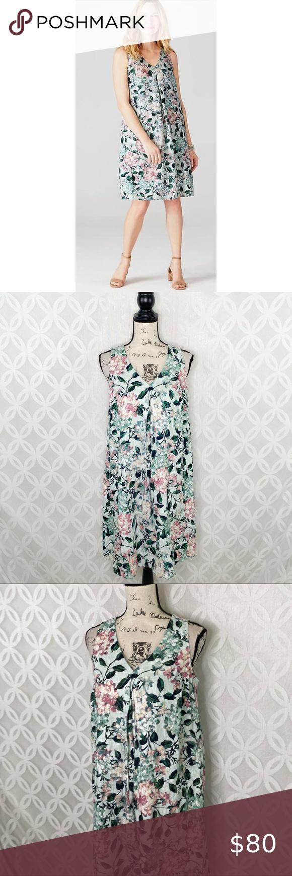 J. Jill Love Linen hydrangea Dress NWT in 2020 Hydrangea