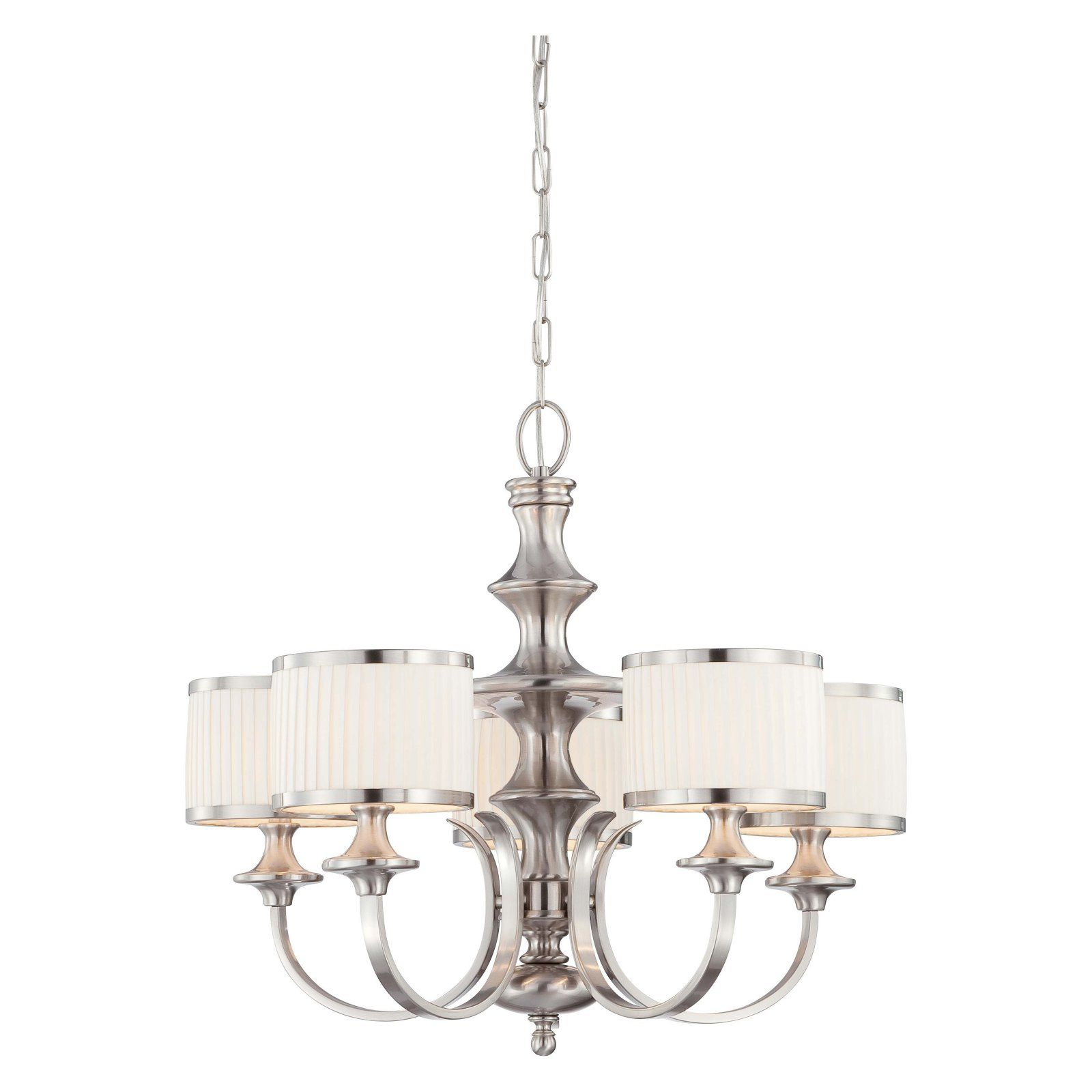 Nuvo Candice 60 4735 5 Light Chandelier 28w In Brushed Nickel