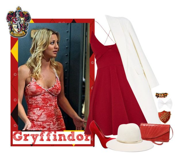 """Penny is a gryffindor."" by bambolinadicarta ❤ liked on Polyvore featuring Warner Bros., Alexander Wang and Janessa Leone"