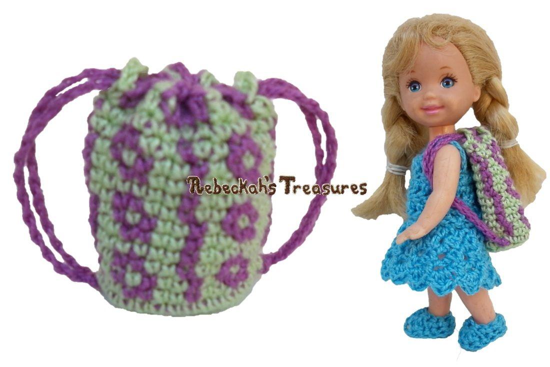 Flower Bug Doll Backpack / Coin Purse - Free Crochet Pattern - Rebeckah's Treasures