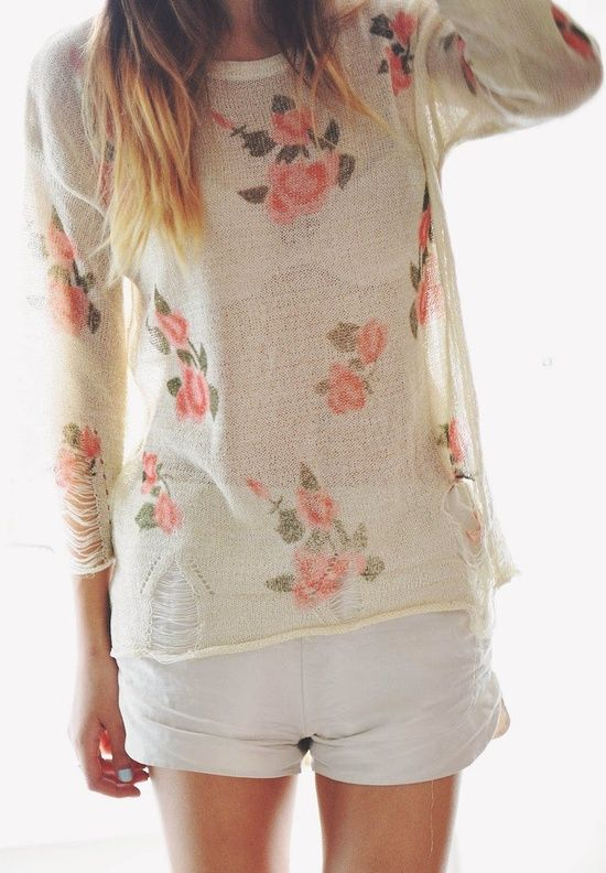 Flowers shirt...but I don't like this see-through style