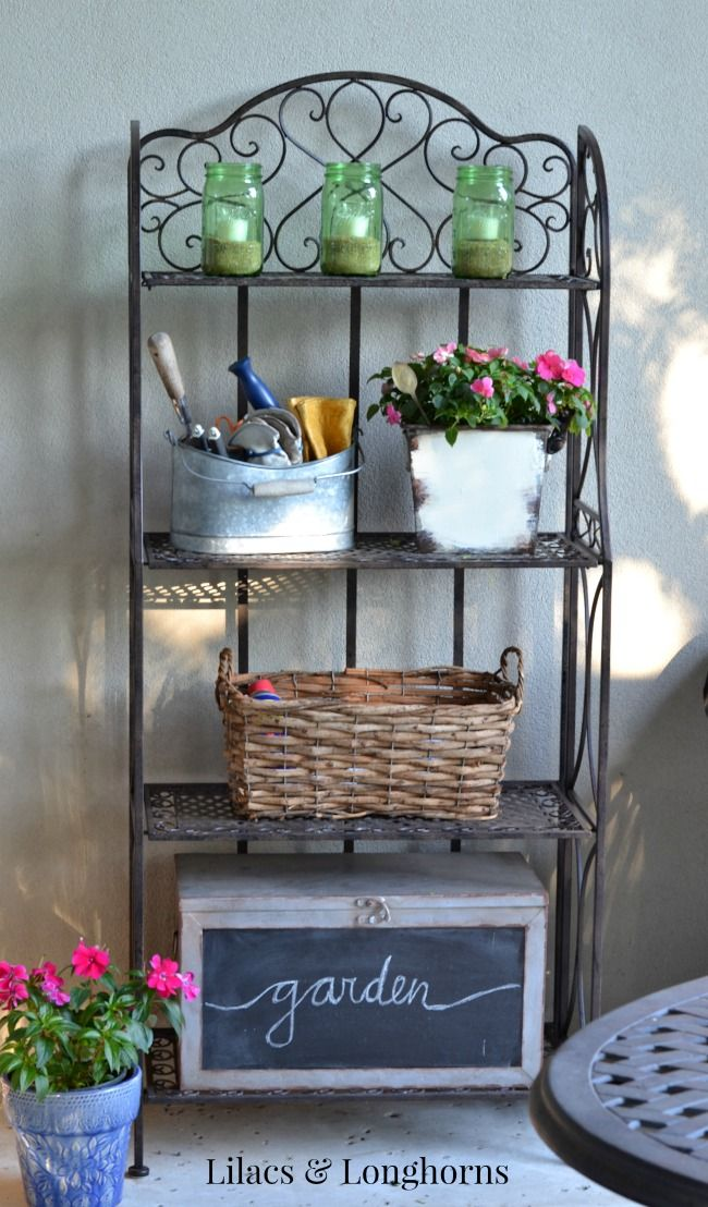 Bakers Rack Ideas Repurposed Bar