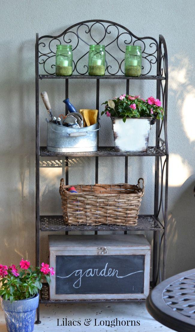 outdoor shelves outdoor patio decor