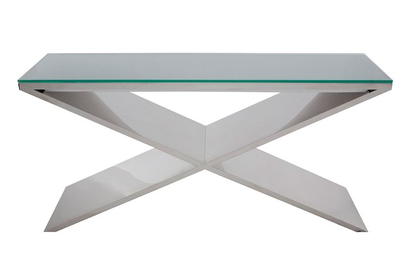 Tava Large Stainless Console Table