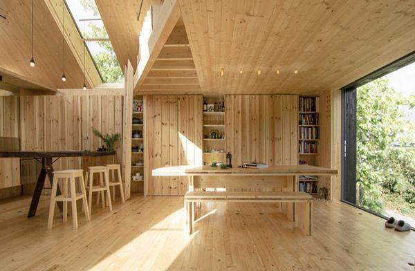 Dakraam in houten dak ark int i tre house