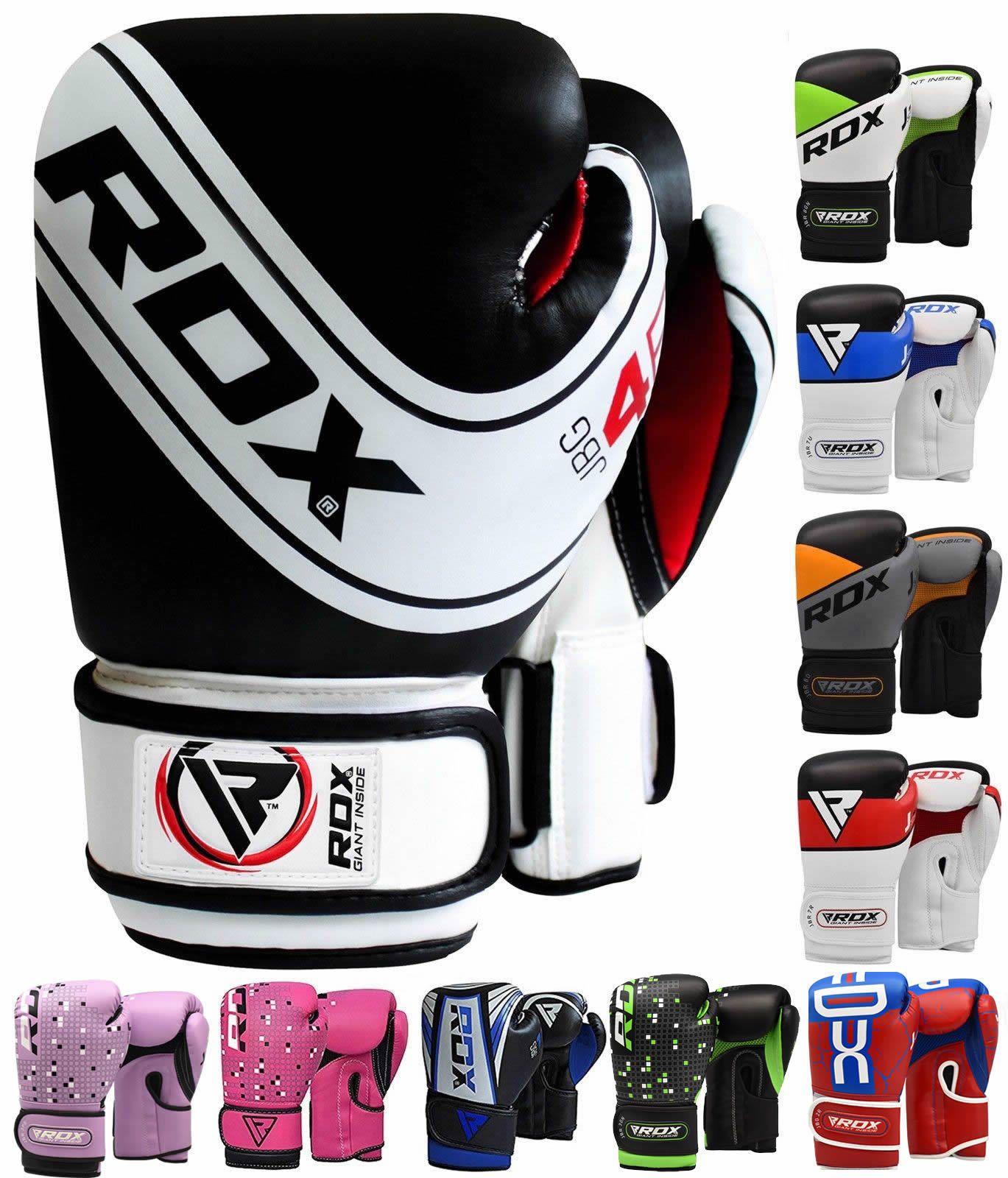 RDX Kids Boxing Gloves Junior Punching Bag Mitts MMA Muay thai Training Sparring