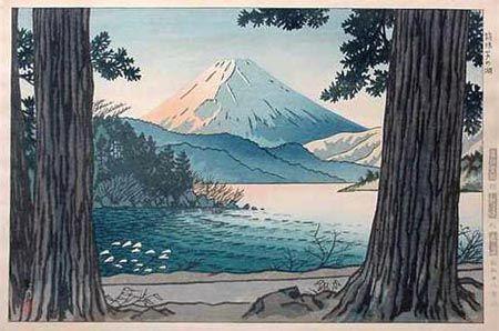 Lake Ashinoko, Hakone, by Shiro Kasamatsu, 1953
