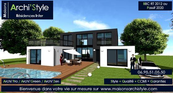 Patio r 1 tt maison archistyle toit terrasse en u   archistyle ...