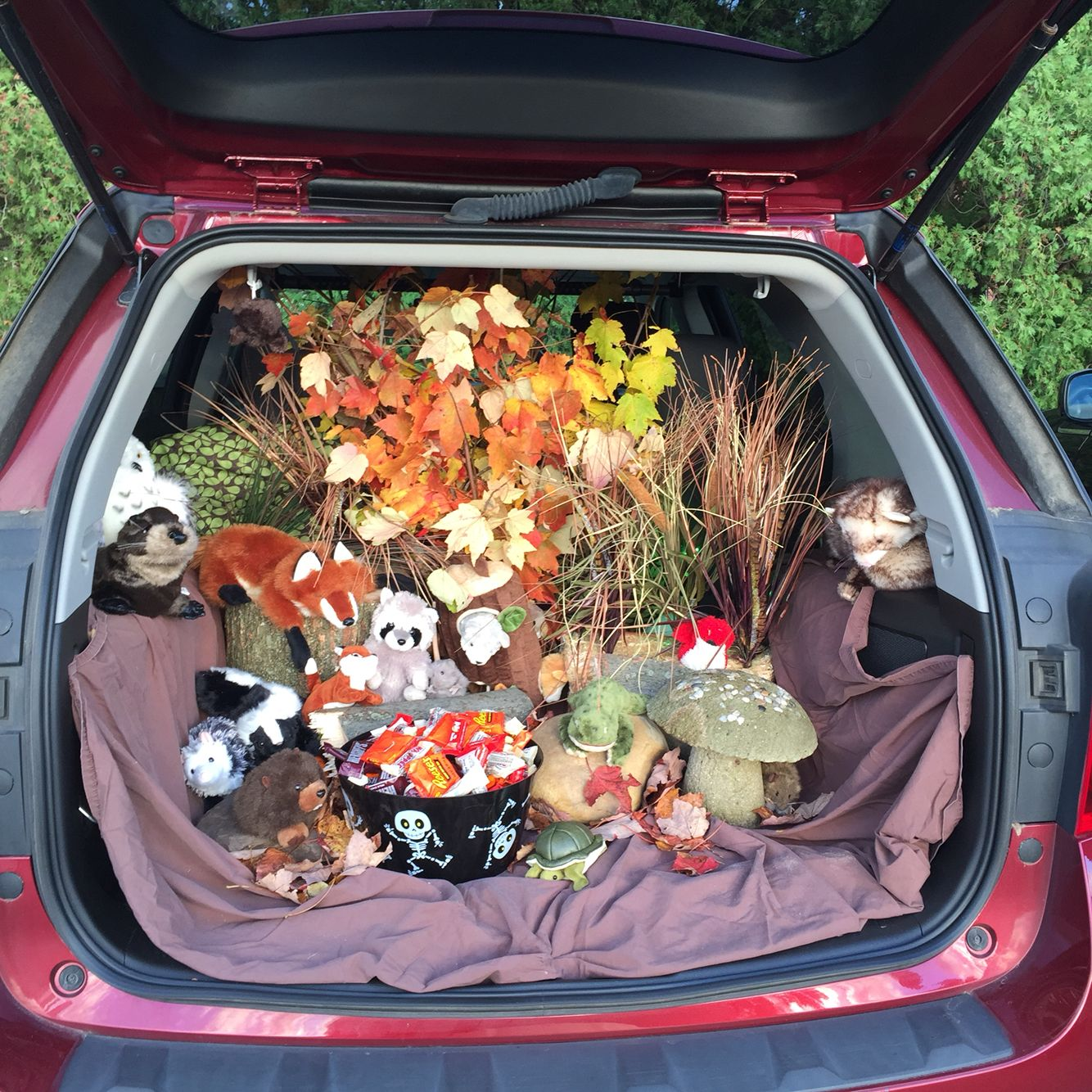 forest theme trunk or treat halloween trunk or treat trunk or rh pinterest com
