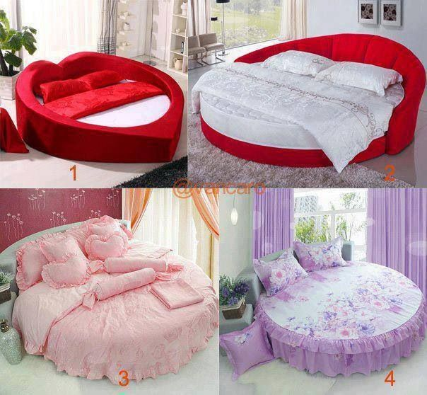 Heart Shaped And Round Beds So Cute Home Bedroom Comfortable Bedroom Gorgeous Bed