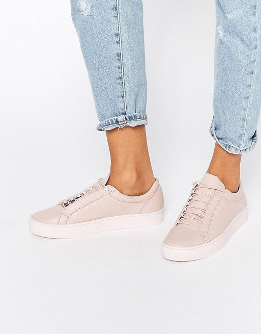 Vagabond Zoe Leather Pale Pink Sneakers