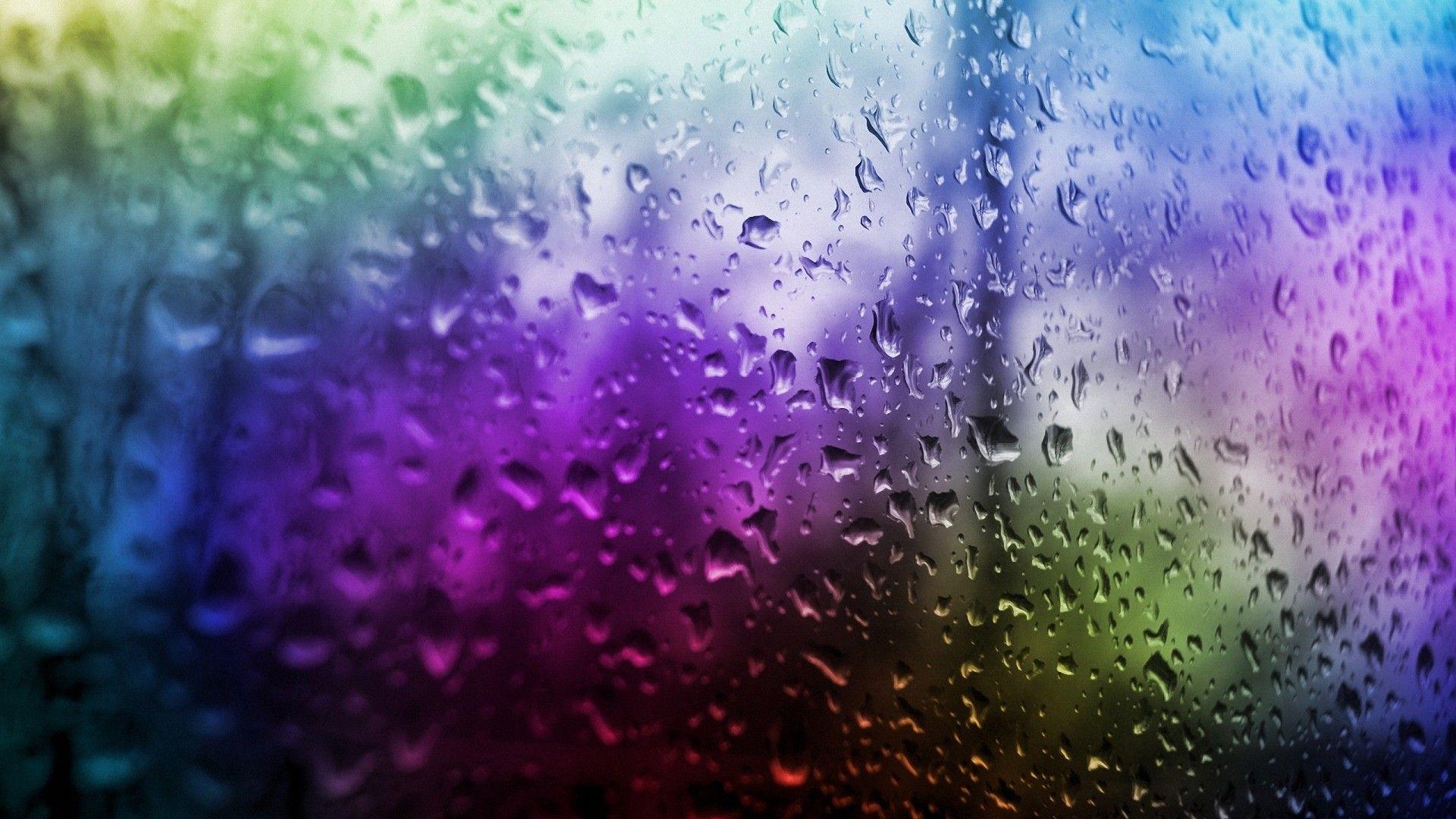Colorful Water Drop Window Hd Wallpapers Desktop Backgrounds Abstract Wallpaper Abstract Widescreen Wallpaper