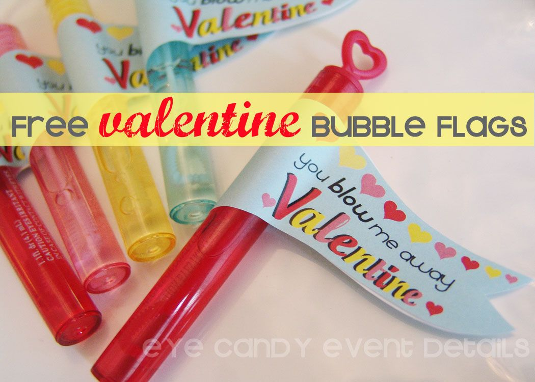 Eye Candy Event Details: {FREE DOWNLOAD} Valentine Bubble Flags  #freebie, #valentines