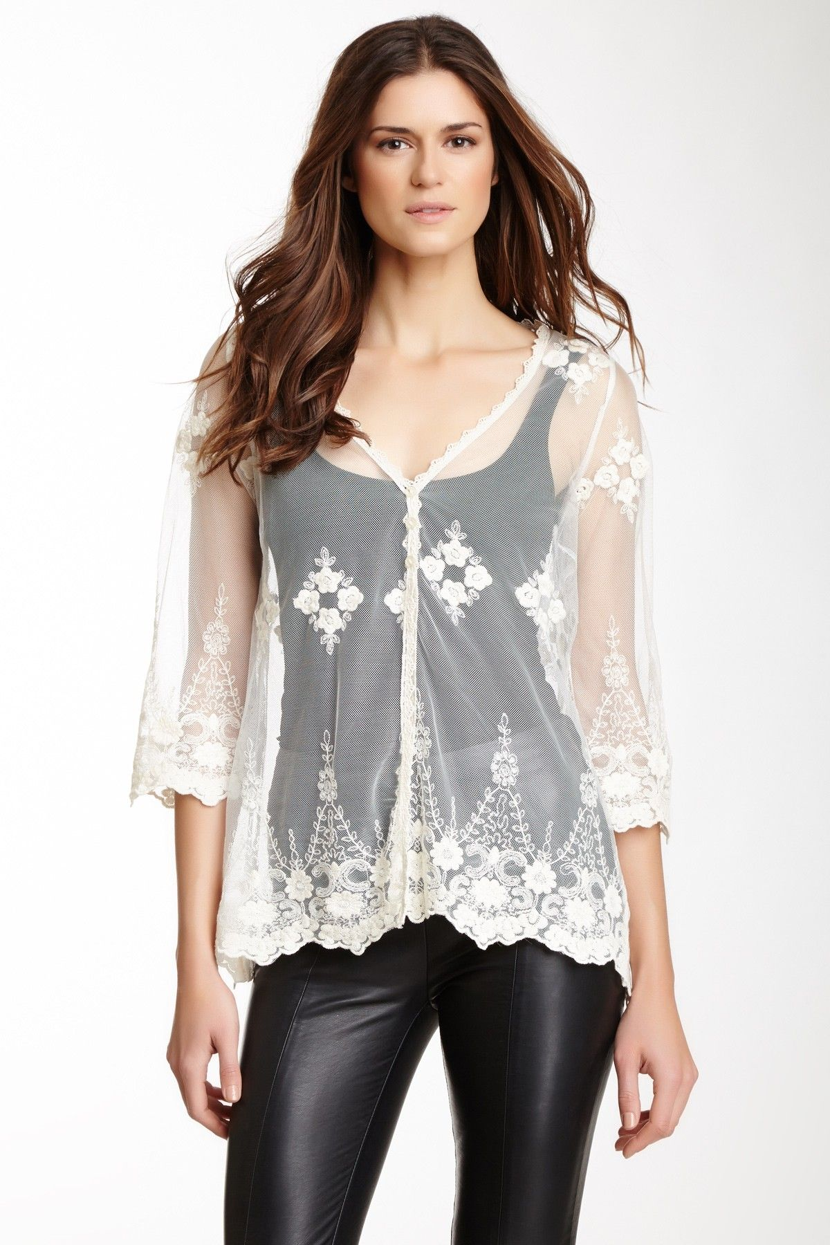 Sheer Lace Cardigan...cause I'm going through a lace craze ...