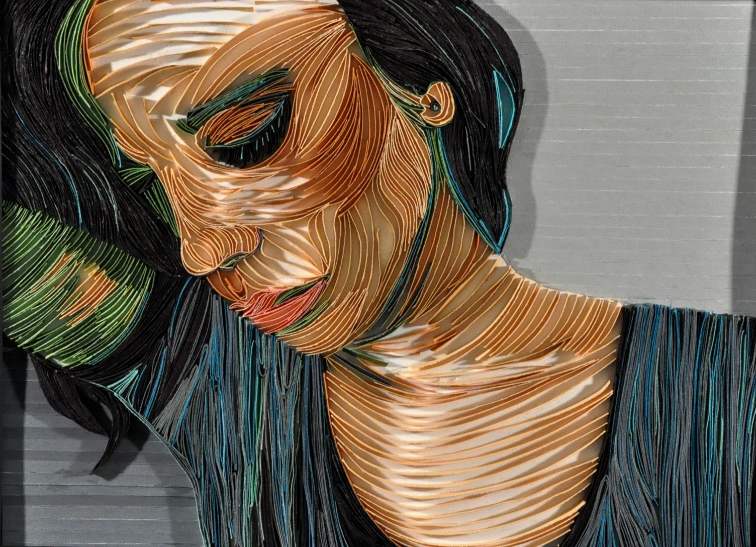 Emotionless color with images teaching art portrait art