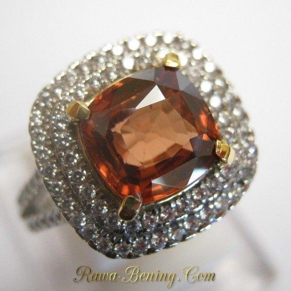 Cincin Permata Zircon Alami Silver 925 Ring 8US untuk Wanita Indonesia