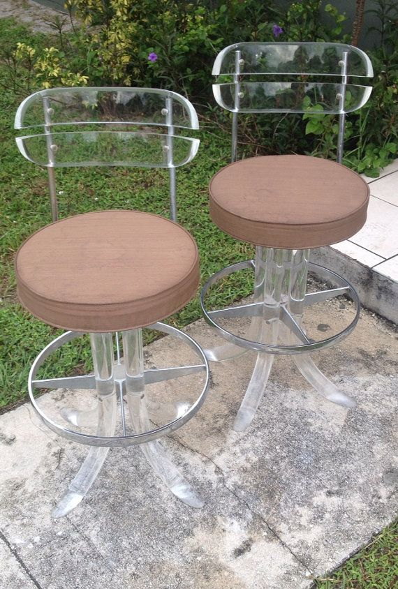lucite stools vintage mid century modern lucite