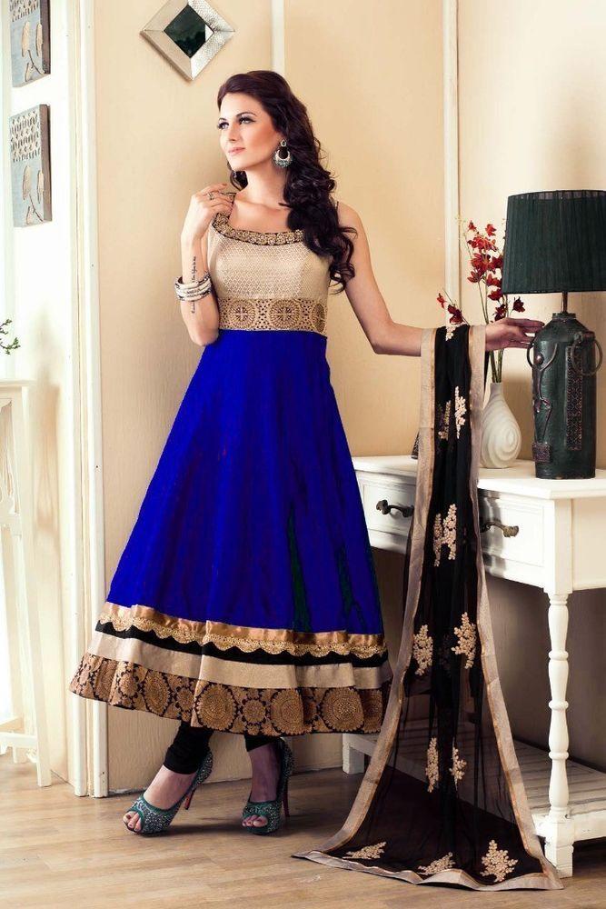 Letest new anarkali salwar kameez bollywood wedding dress suit ...