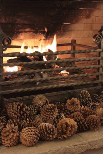 Poster 40 X 60 Cm By The Fireplace By Justart High Quality Art