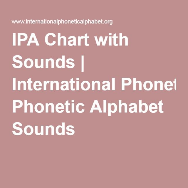Ipa Chart With Sounds  International Phonetic Alphabet Sounds