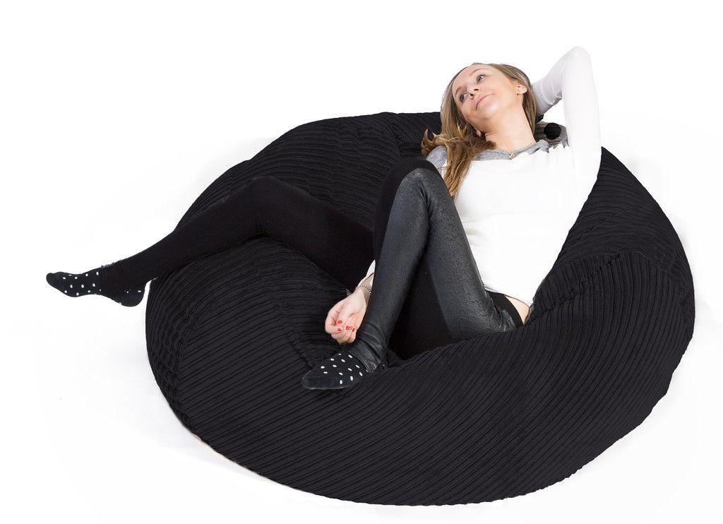 Mammoth Bean Bag Sofa   Cord Black