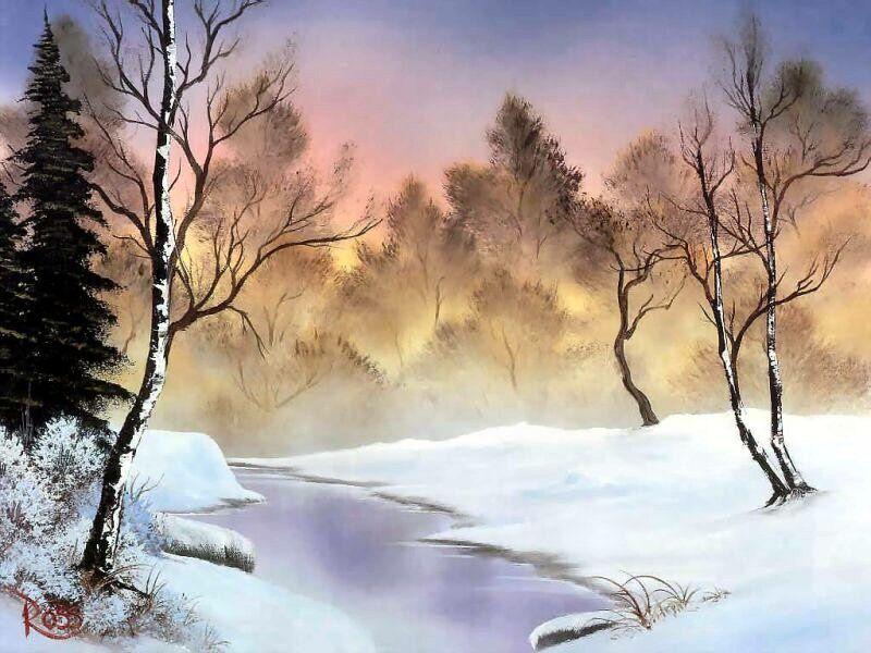 651f75830 Winter Stillness ~ Bob Ross. Winter Stillness ~ Bob Ross The Joy Of Painting  ...