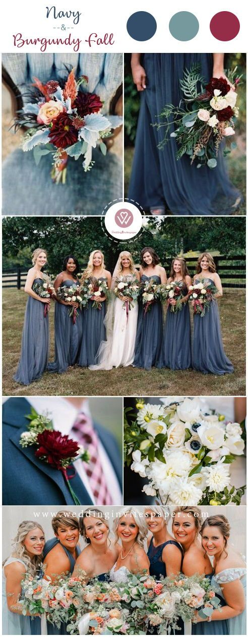 Top 8 Striking Navy Blue Wedding Color Palettes for 2019 Fall -   11 october wedding Colors ideas
