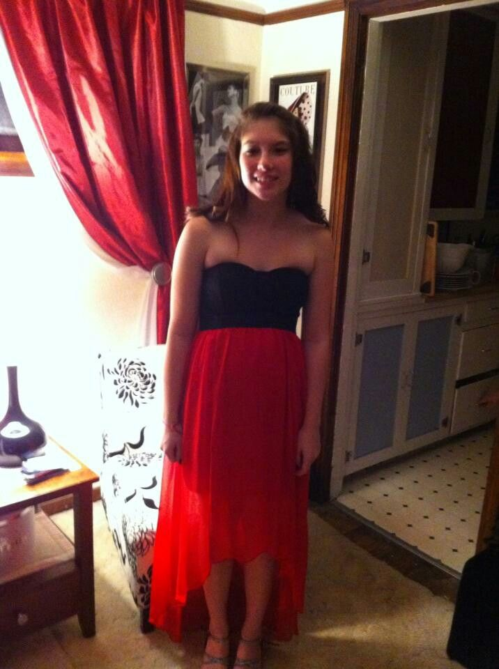 Karly dressed up for Homecoming.