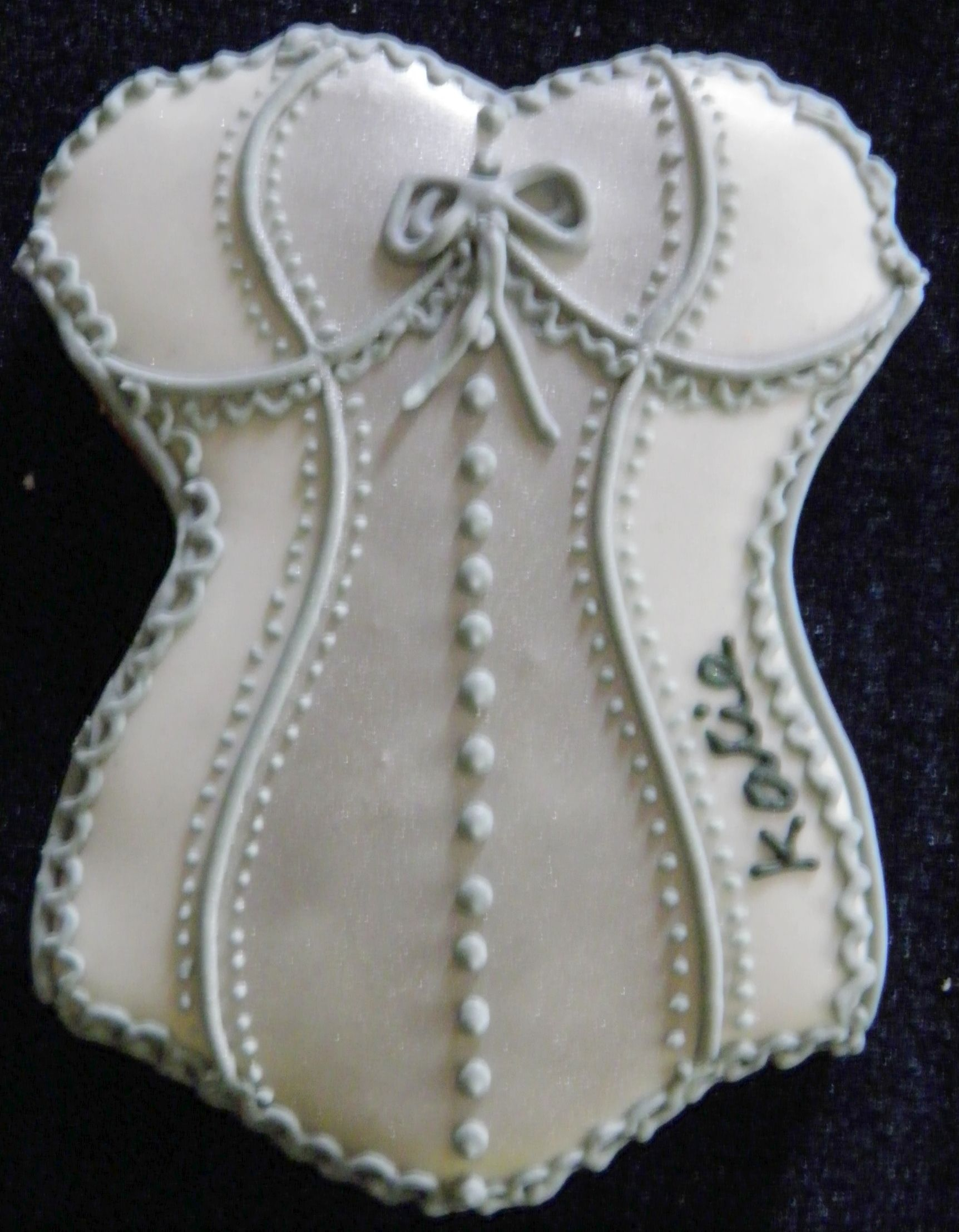 The Purple Frog Cookie Collection - Silver Corset.