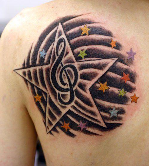 Tatuajes De Estrellas Para Hombres Affordable Los Tatuajes Mas