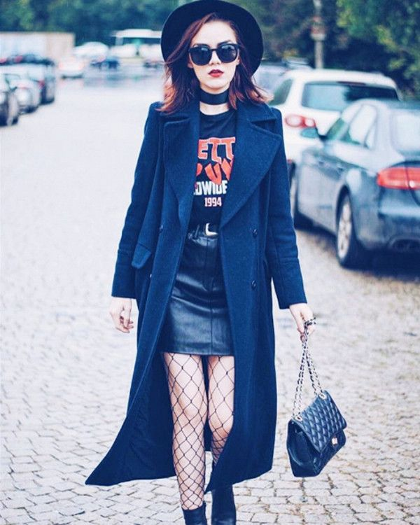 Jumbo fishnet tights are great for autumn