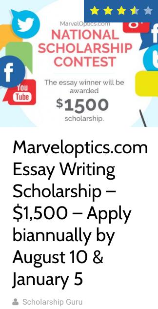 Essay Writing Scholarship 1,500