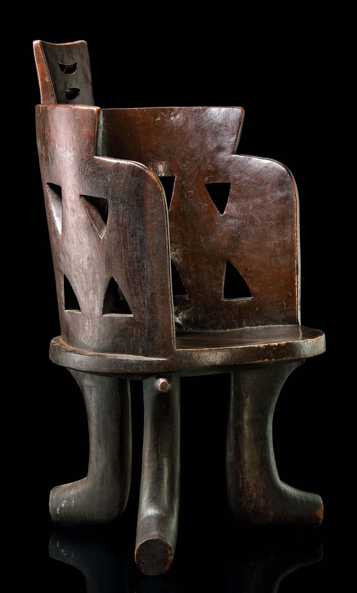 Africa chairstool from the gurage people of ethiopia wood