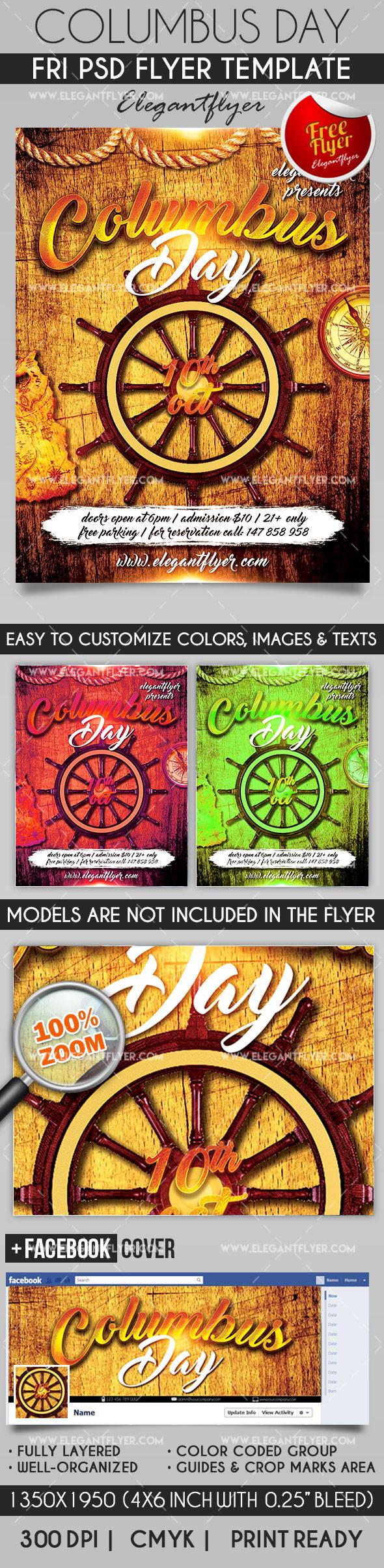 best dj show flyer psd template facebook cover columbus day flyer psd template facebook cover elegantflyer