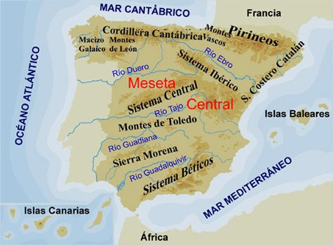 Montes De Leon Mapa.Educarex Es El Relieve De Espana Mapa De Espana Relieve Espana Espana
