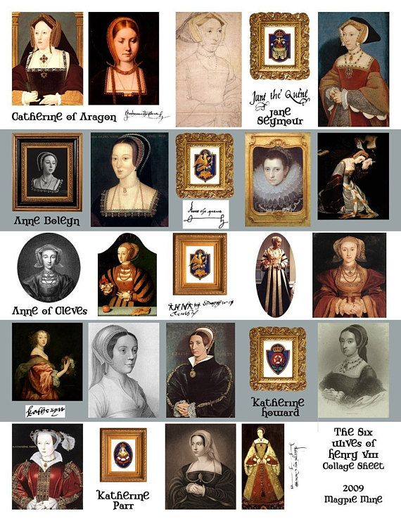 Photo of Queens of Henry VIII Collage Sheet – Anne Boleyn and the Others – Digital Download – Printable – Instant Download