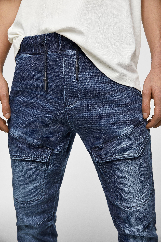 Pantalon De Jogging Soft En Jean Biker Jogger Jeans Homme Zara Canada Mens Joggers Outfit Denim Joggers Denim Joggers Mens