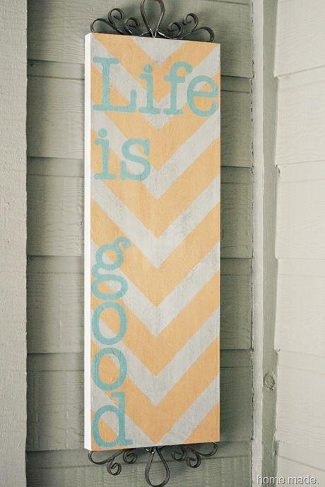 chevron aqua and orange sign | Crafty Good Time | Pinterest | Aqua ...