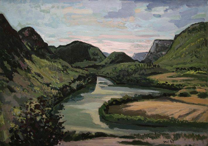 René Teil 1910-1985 The Ain in Thoirette