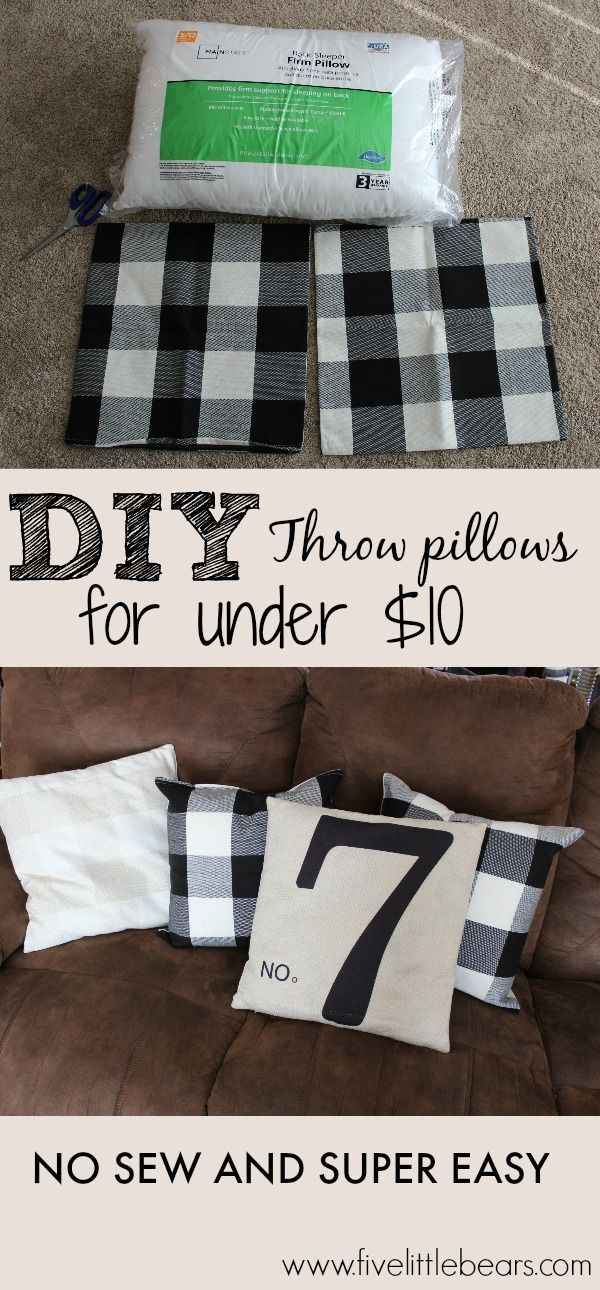 Diy Throw Pillows For Under 10 With Images Diy Throw Pillows