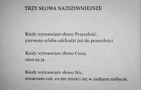 Znalezione Obrazy Dla Zapytania Szymborska Wiersz Wiersze