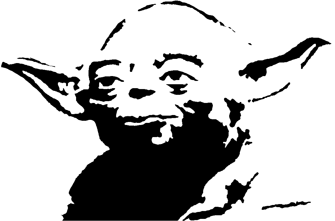 Star wars yoda black and white clipart clipart suggest