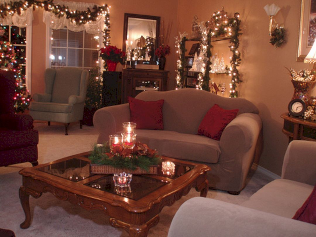 50 Beautiful Living Room Christmas Design Ideas For Inspiration Decorating Coffee Tables Coffee Table Centerpieces Table Decor Living Room