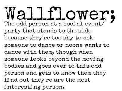 Wallflower Definition Person
