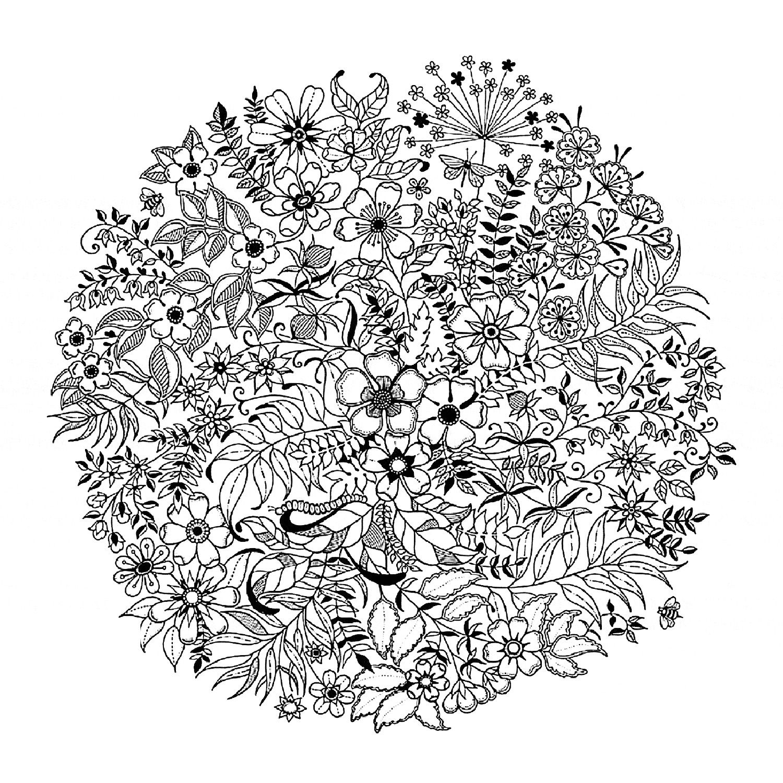 coloring-mandala-flowered, A partir de la galerie : Fleurs Et ...